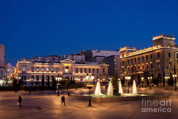 Cityhall Photograph - Kotzia Square And Athens Cityhall by Gabriela Insuratelu