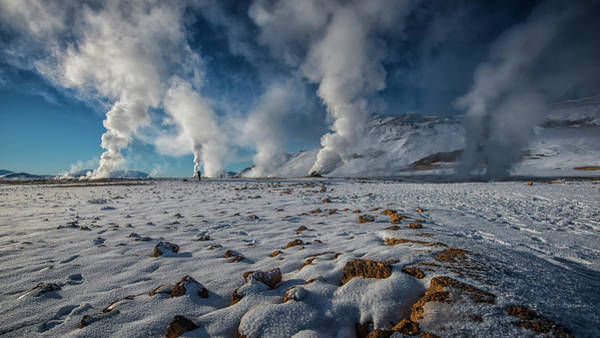 Geothermal Photograph - Krafla Geothermal Area by Peerakit Jirachetthakun