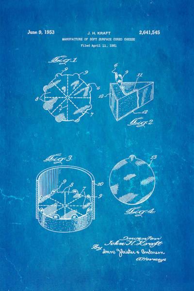 Historic Triangle Photograph - Kraft Cheese Triangle Patent Art 1951 Blueprint by Ian Monk