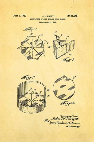 Historic Triangle Photograph - Kraft Cheese Triangle Patent Art 1951 by Ian Monk