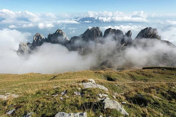 Alpine Meadows Photograph - Kreuzberge Limestone Peaks by Dr Juerg Alean