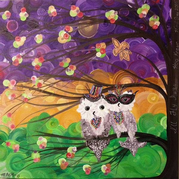 Painting - Krewe Of Hoo by MiMi  Stirn
