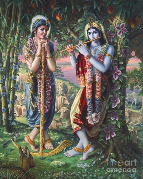 Painting - Krishna And Balaram  by Vishnudas Art