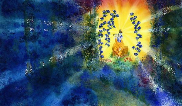 Paramhansa Yogananda Painting - Krishna In Woods by Mantradevi LoCicero