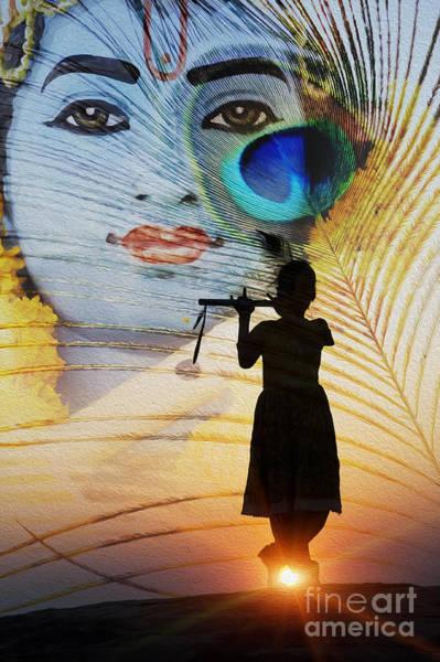 Peacock Photograph - Krishna Jai by Tim Gainey