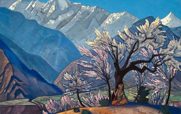 Russian Painting - Krishna by Nicholas Roerich