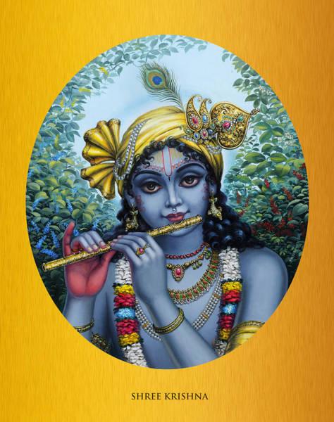 Peacocks Painting - Krishna by Vrindavan Das