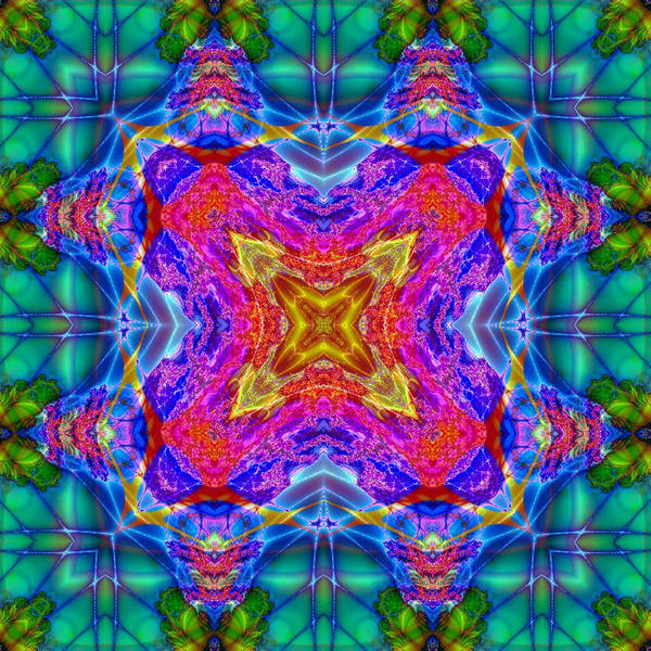 Digital Art - Krispy Kaleidoscope by Charmaine Zoe