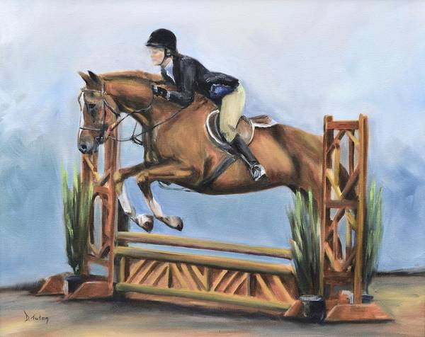 Painting - Kristin And Baghdad by Donna Tuten