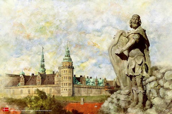 Wall Art - Painting - Kronborg Castle by Catf