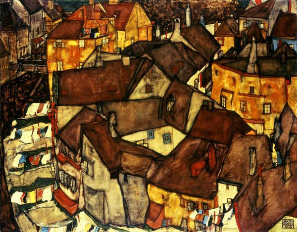Vienna Painting - Krumau Town Cresent, 1915 by Egon Schiele