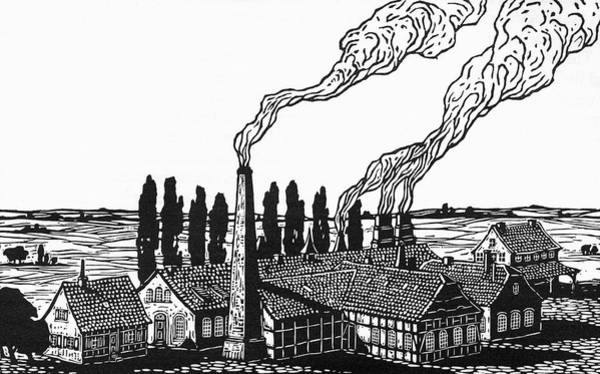 Steel Drawing - Krupp's Cast Steel Works In  1835 by Mary Evans Picture Library