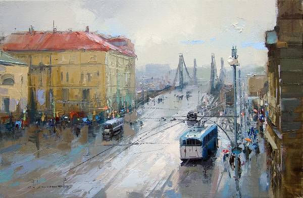 Russian Painting - Krymskaya Square. by Alexey Shalaev