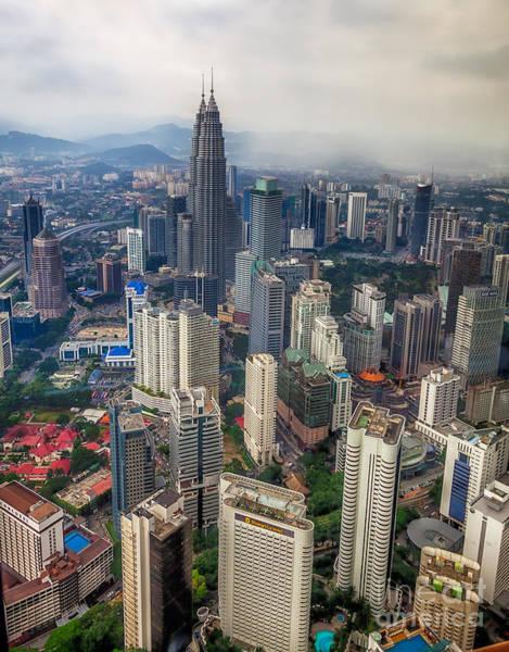 Twin Cities Photograph - Kuala Lumpur City by Adrian Evans