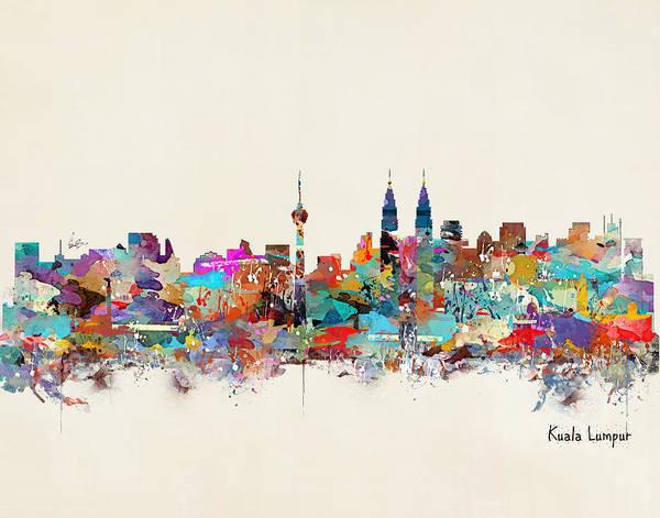 Throws Painting - Kuala Lumpur Malaysia by Bri Buckley