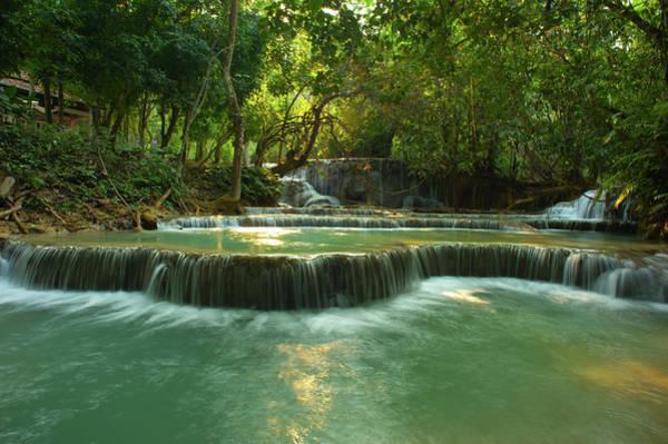 Laos Photograph - Kuang Si Waterfalls by Kooi Cia