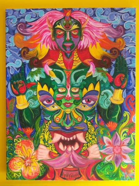 Lucky Charm Painting - Kubera - The Lord Of Wealth by Manu Sharma