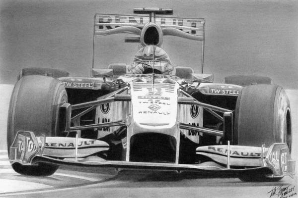 Wall Art - Drawing - Kubica 2010 by Lyle Brown