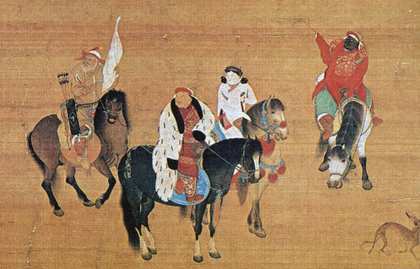 Wall Art - Painting - Kublai Khan Hunting by Granger
