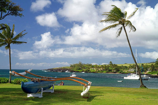 Outrigger Canoe Photograph - Kukuiula Small Boat Harbor by David R. Frazier