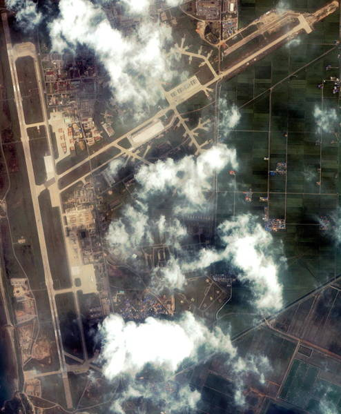 Military Air Base Photograph - Kunsan Airbase by Geoeye/science Photo Library