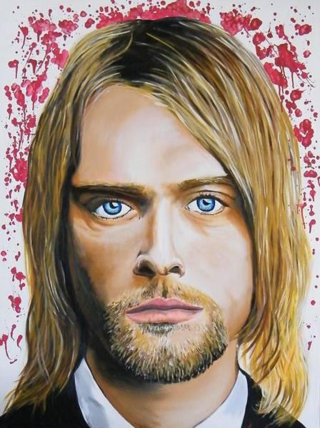 Dave Grohl Painting - Kurt Cobain by Aaron Joseph Gutierrez
