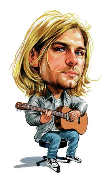Wall Art - Painting - Kurt Cobain by Art