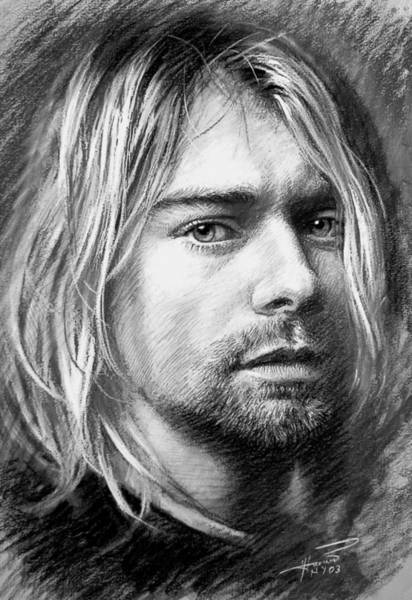 Nirvana Wall Art - Drawing - Kurt Cobain by Viola El