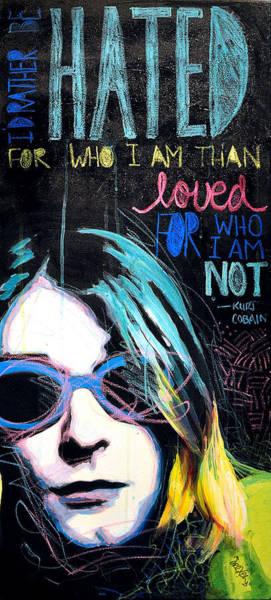 Oil Pastel Painting - Kurt Cobain by Erica Falke