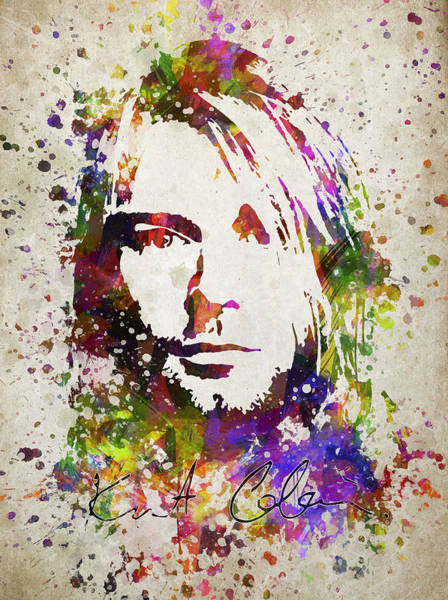 Wall Art - Digital Art - Kurt Cobain In Color by Aged Pixel
