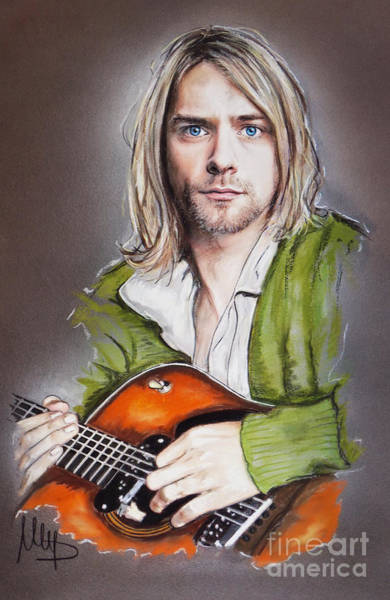 Wall Art - Mixed Media - Kurt Cobain by Melanie D