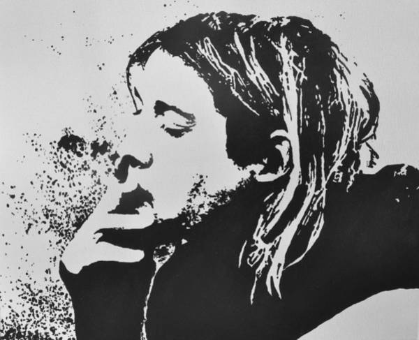 Dave Grohl Painting - Kurt Cobain by Paula Sharlea
