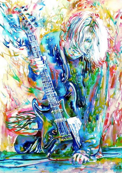 Psychedelic Image Painting - Kurt Cobain Portrait.1 by Fabrizio Cassetta