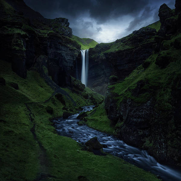 Dark Green Wall Art - Photograph - Kvernufoss by Juan Pablo De