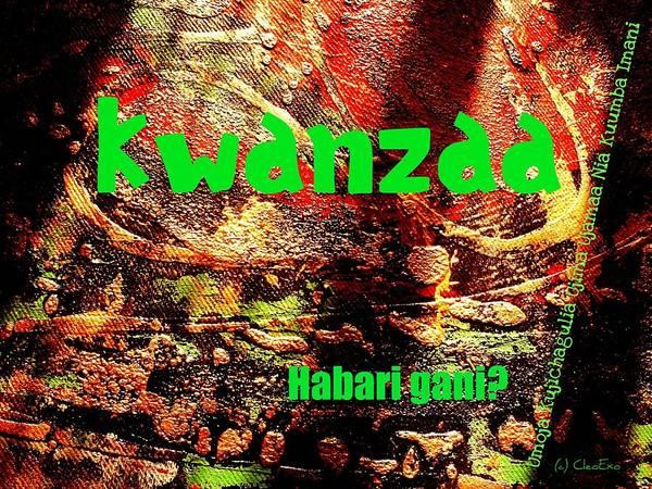 Digital Art - Kwanzaa Habari Gani by Cleaster Cotton