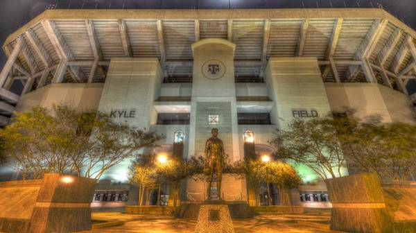 Time Exposure Wall Art - Photograph - Kyle Field by David Morefield