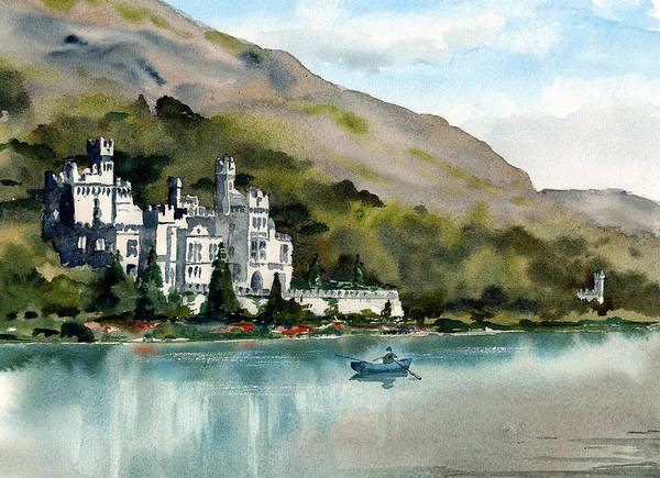 Painting - Kylemore Abbbey Galway by Val Byrne