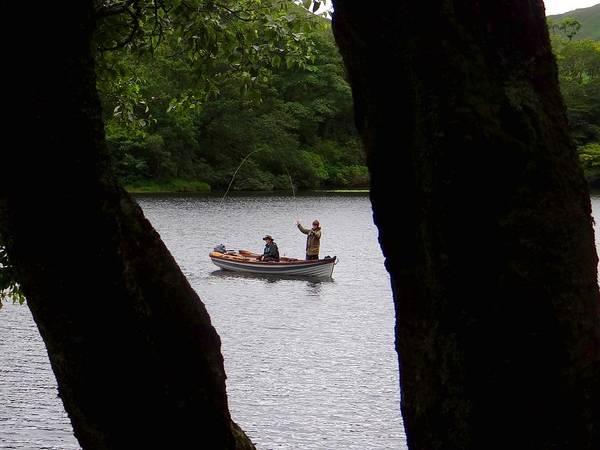 Photograph - Kylemore Abbey Fishing by Keith Stokes