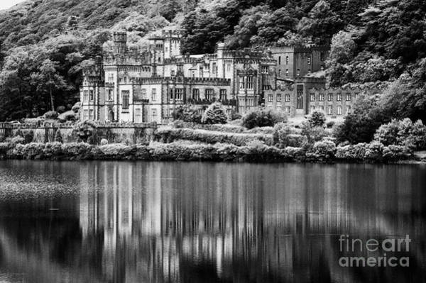 Gaelic Photograph - Kylemore Abbey Reflected In The Lake Connemara Galway Ireland by Joe Fox