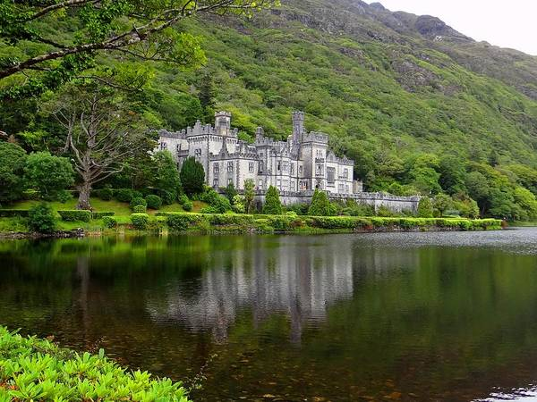 Photograph - Kylemore Abbey Reflection by Keith Stokes