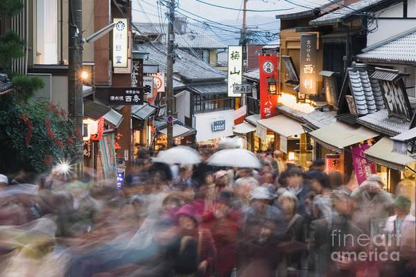 Kansai Region Wall Art - Photograph - Kyoto Higashiyama Crowds by Ei Katsumata