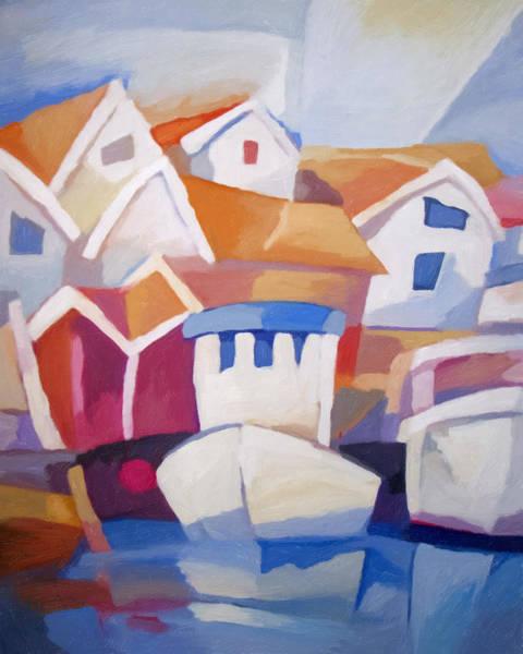 Painting - Kyrkesund Sweden by Lutz Baar