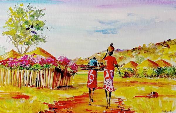 Painting - L 140 by Albert Lizah