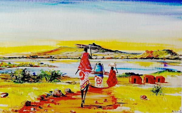 Painting - L 141 by Albert Lizah