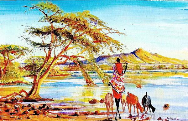 Painting - L 145 by Albert Lizah