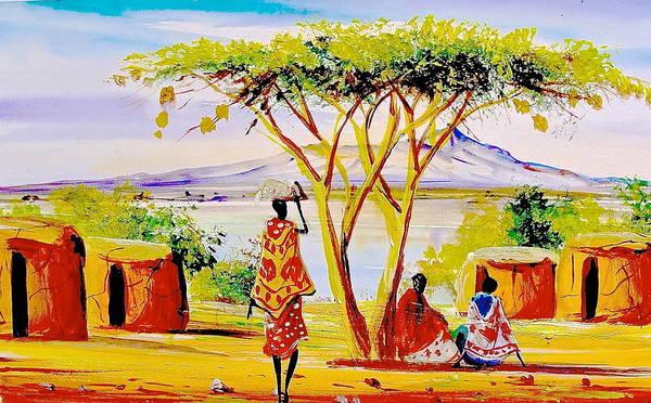 Painting - L 94 by Albert Lizah