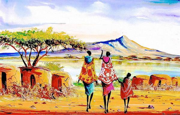 Painting - L 96 by Albert Lizah