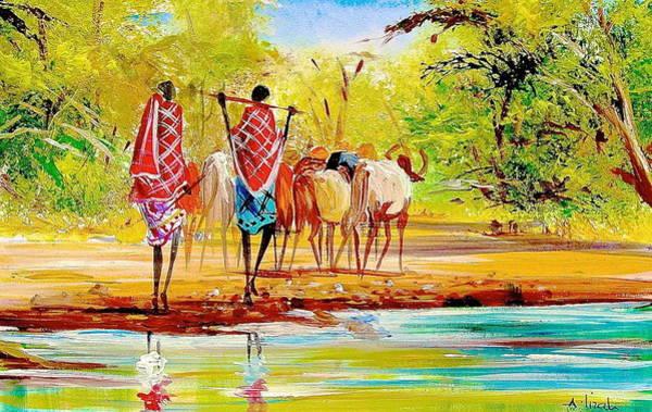 Painting - L 98 by Albert Lizah
