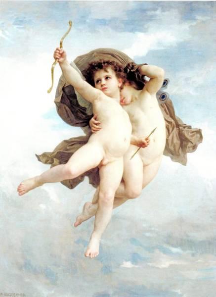 Digital Art - L Amour Vainqueur by William Bouguereau