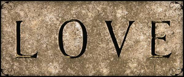 Virtue Photograph - L O V E   by Chris Berry
